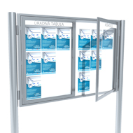 Informačné vitríny dvojkrídlové