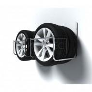 Nástenný držiak na pneumatiky, 2+2 miestny