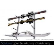 Nástenný držiak na snowboard, 5 miestny