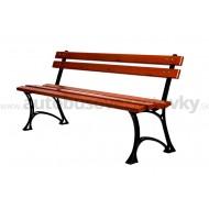 Záhradná lavička liatinová LL019