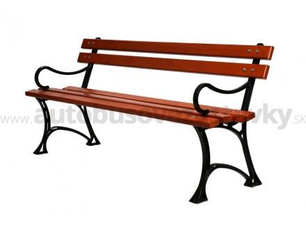 Záhradná lavička liatinová LL020