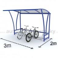 Prístrešok pre bicykle 3,0m Jednostranný