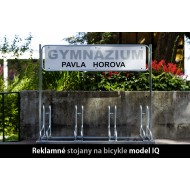Reklamný stojan na bicykle IQ, 4 miestny