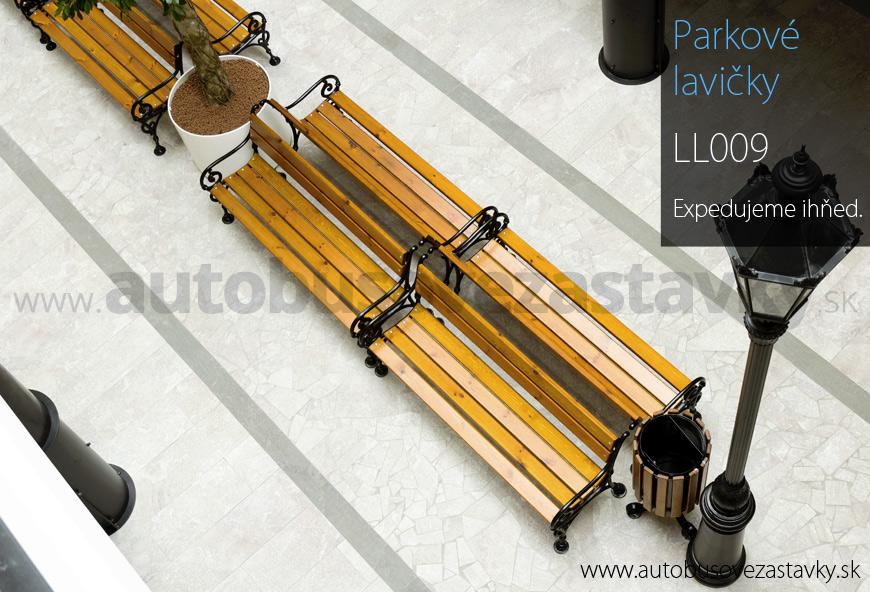 Parkové lavičky s operadlom v kombinaci dreva a liatiny. Parková lavička je vyrábaná v dĺžke 150 a 180cm. Viac na www.autobusovezastavky.sk