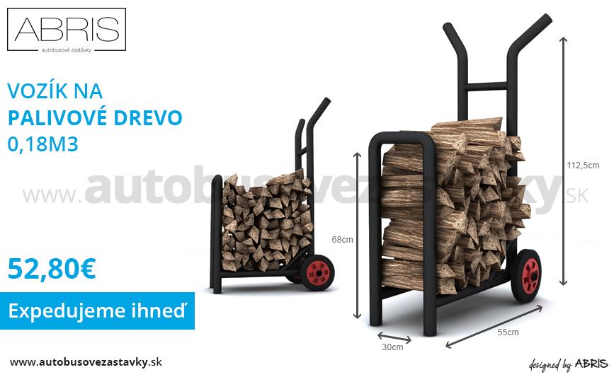 Praktický vozík na palivové drevo za nízku cenu vhodný aj ako stojan na drevo ku kozubu. Jednoduchý presun palivového dreva.