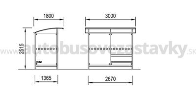 rozmery-autobusove-pristresky-model-ABRIS-2.A