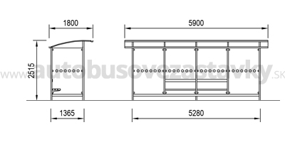 rozmery-autobusove-pristresky-model-ABRIS-4.A