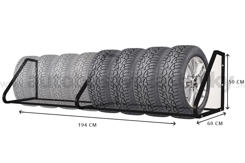 Lacný úložný systém na pneumatiky je vhodný pre pneumatiky z osobných automobilov. Nástenný držiak na pneumatiky pre 4 a 8 pneumatík si môžte objednať cez internetový obchod www.autobusovezastavky.sk alebo www.stojanynabicykle.sk