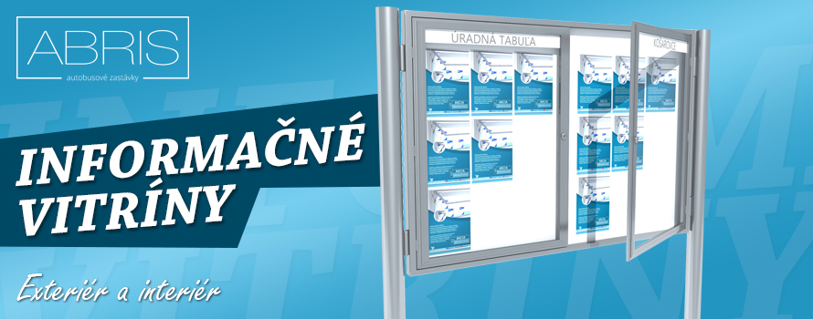 Akcia zľavy na informačné vitriny, informačne tabule, informačne značenia. Nízke ceny na všetky informačné vitríny.